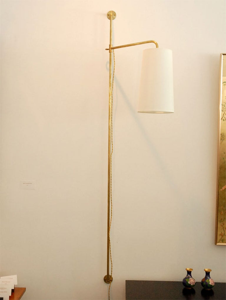 Brass French Pole Sconce For Sale
