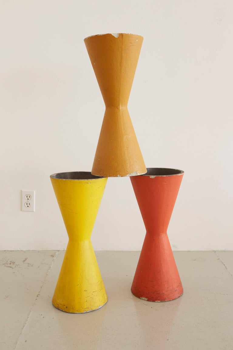 Rare Willy Guhl Colorful Pots In Excellent Condition For Sale In Los Angeles, CA