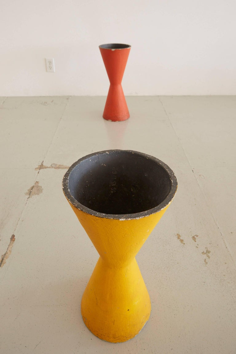 Mid-20th Century Rare Willy Guhl Colorful Pots For Sale