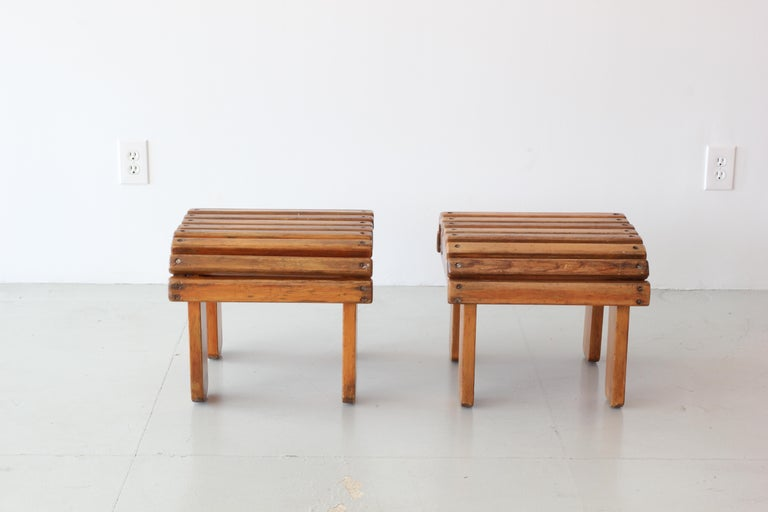 French Railroad Stools In Good Condition For Sale In Los Angeles, CA