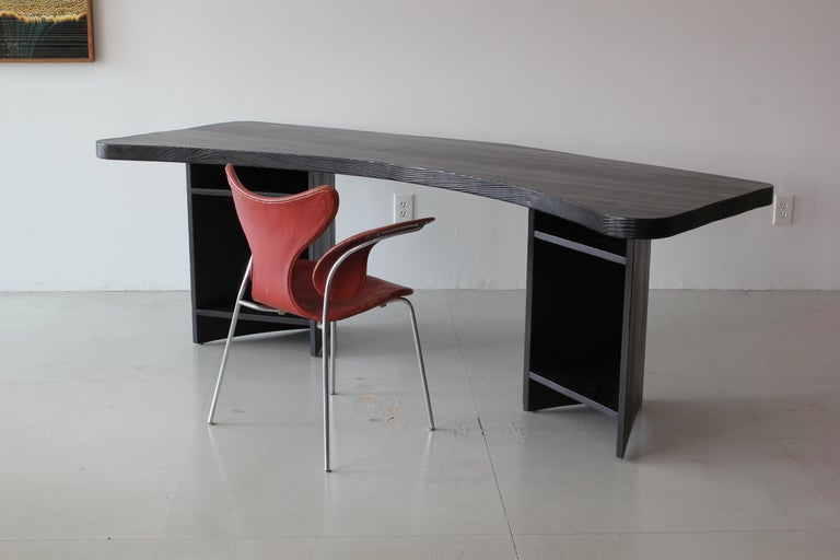 French Boomerang Desk in Style of Chapo In Fair Condition For Sale In Los Angeles, CA