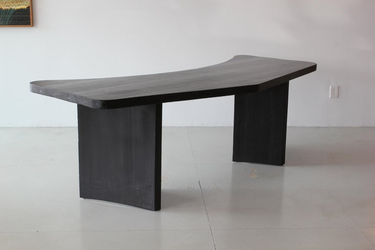 Oak French Boomerang Desk in Style of Chapo For Sale