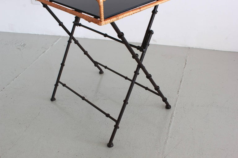 Mid-20th Century Adnet Style Tray Table For Sale