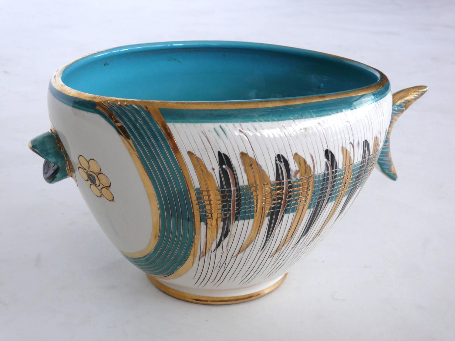 Bitossi for raymor fish bowl and cups at 1stdibs for Fish bowl cups