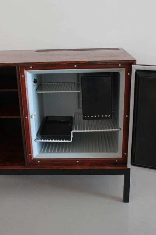 Danish Rosewood Bar Cabinet with Refrigerator by Silkeborg For Sale 3