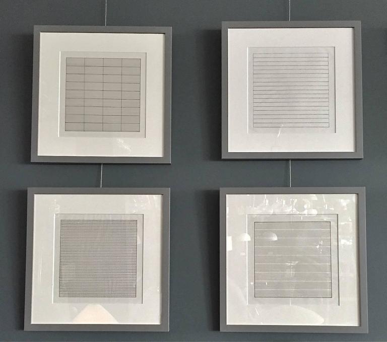 Set of Ten Framed Agnes Martin Lithographs 3