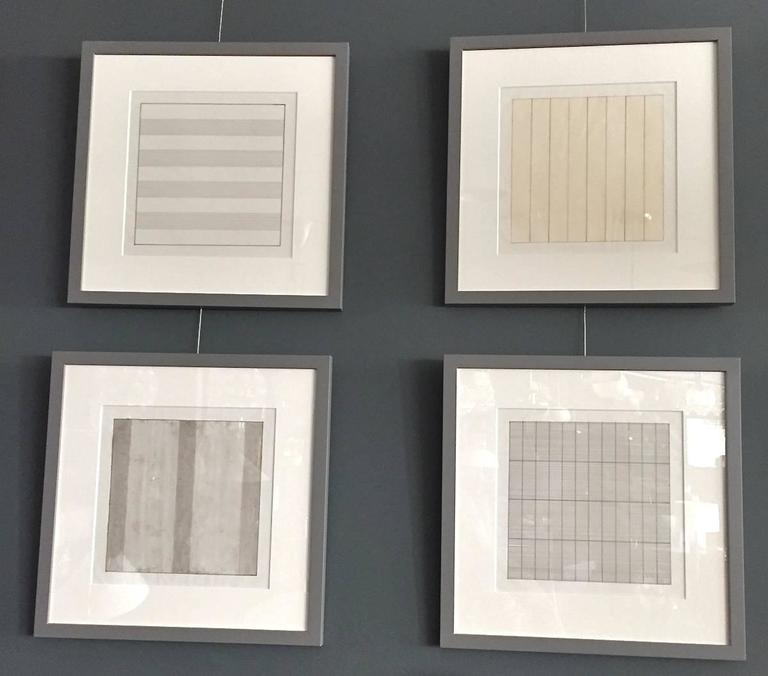 Set of Ten Framed Agnes Martin Lithographs 2