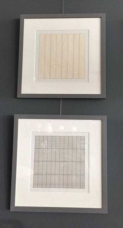 Set of Ten Framed Agnes Martin Lithographs 4
