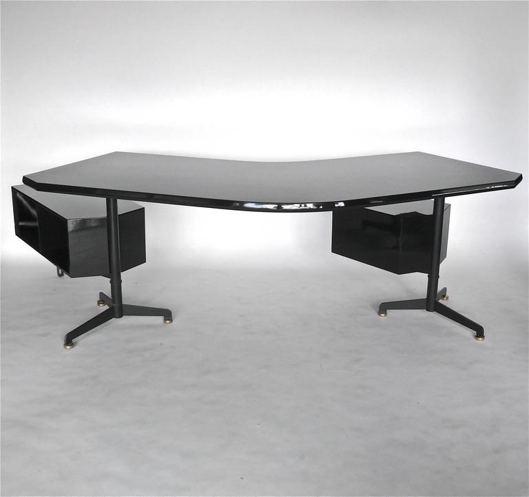 Boomerang Desk By Osvaldo Borsani At 1stdibs