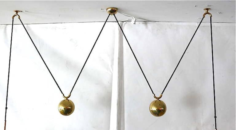 Florian Schulz Vintage Double Counterbalance Pendants For Sale 1