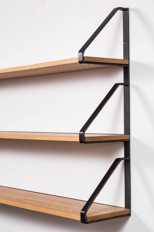 Leather and Oak Bookshelf by Orange Los Angeles 4