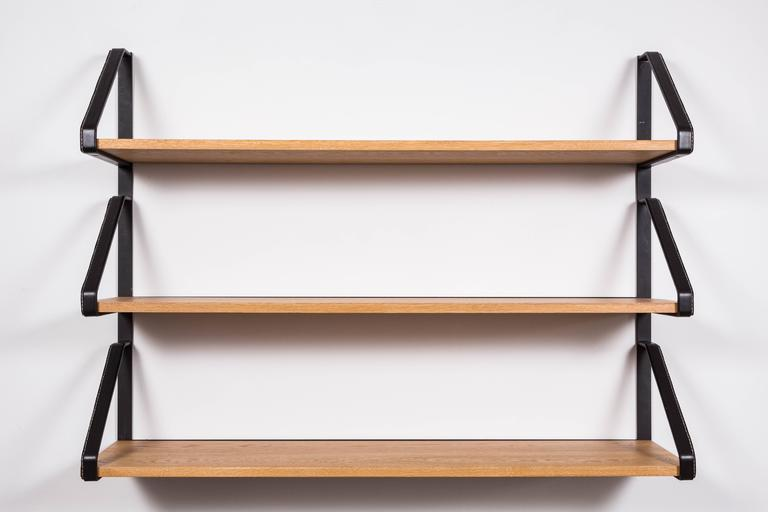 Leather and Oak Bookshelf by Orange Los Angeles 2