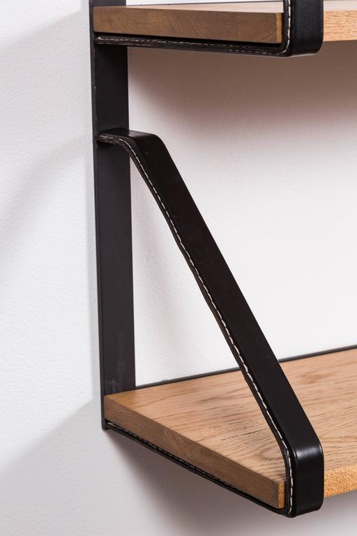 Leather and Oak Bookshelf by Orange Los Angeles 6