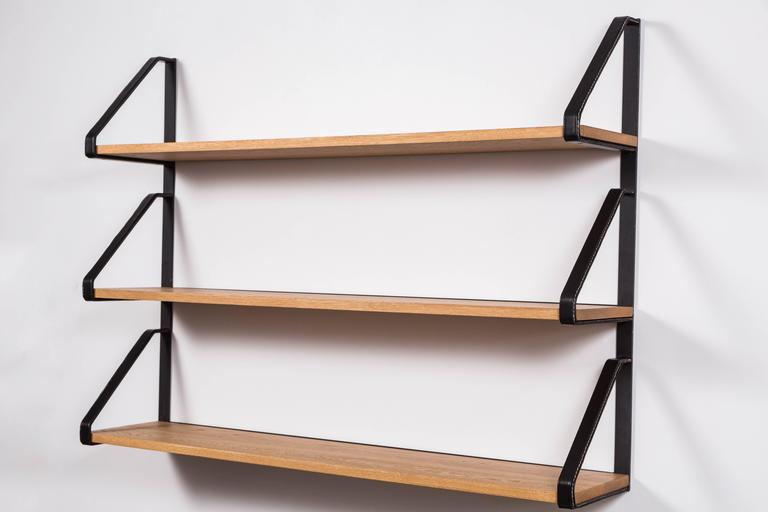 Leather and Oak Bookshelf by Orange Los Angeles 3
