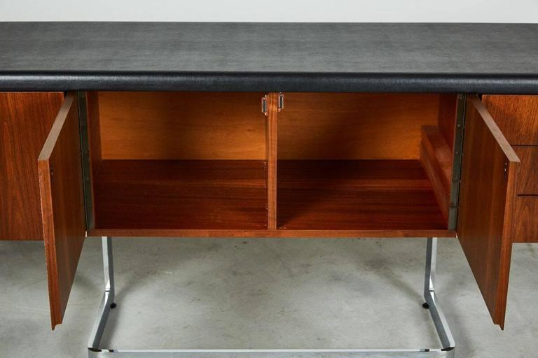 Leather Ste-Marie and Laurent Credenza For Sale