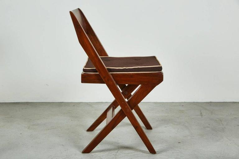 Indian Pierre Jeanneret Library Chair For Sale