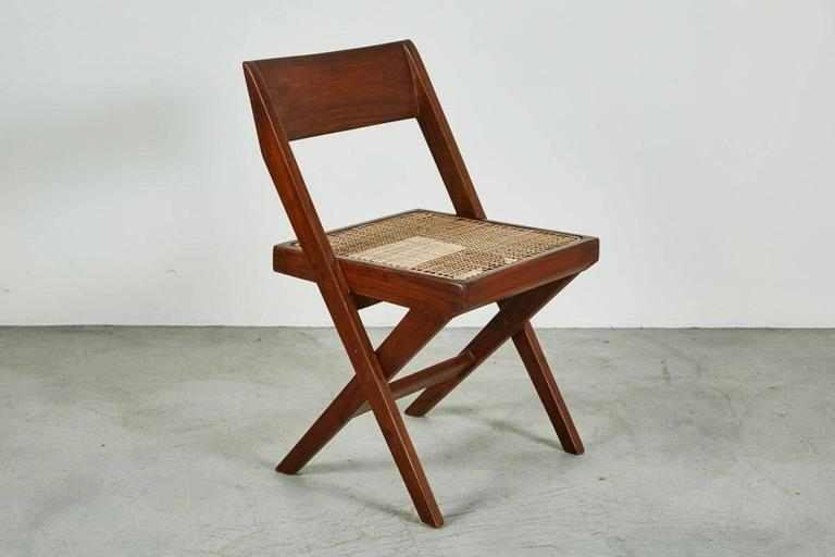 Mid-20th Century Pierre Jeanneret Library Chair For Sale