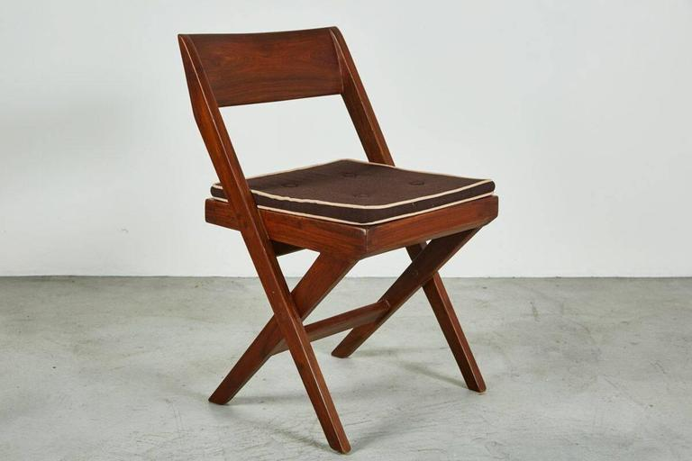 Teak Pierre Jeanneret Library Chair For Sale