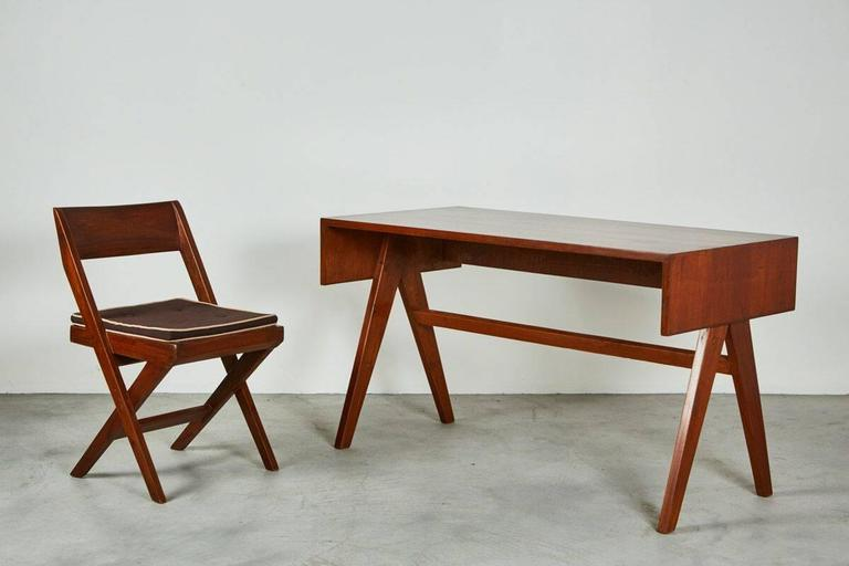 Pierre Jeanneret library desk from the administrative building designed for the city of Chandigarh, India.  Great scale and terrific design.