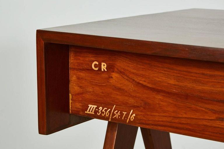 Teak Pierre Jeanneret Desk For Sale