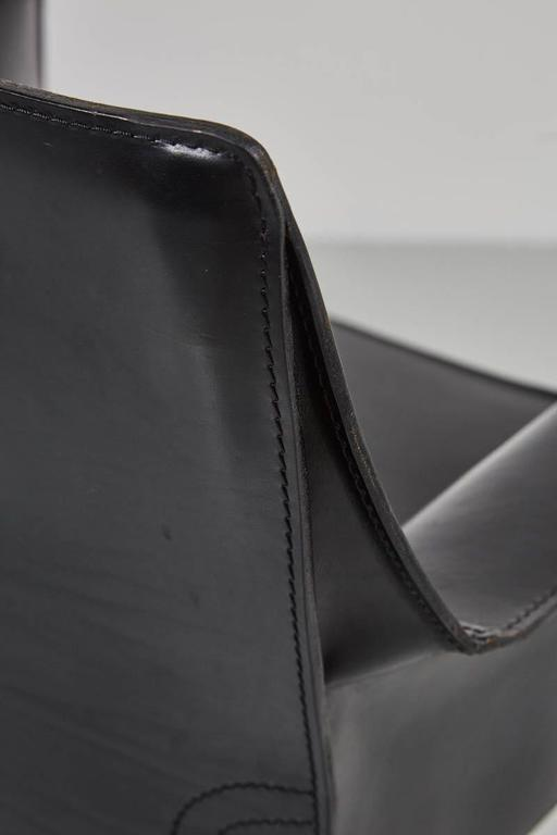 Leather Cab Chairs by Mario Bellini For Sale