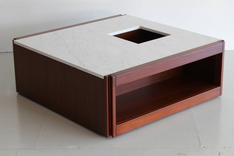 Italian Marble Coffee Table by Angelo Mangiarotti For Sale