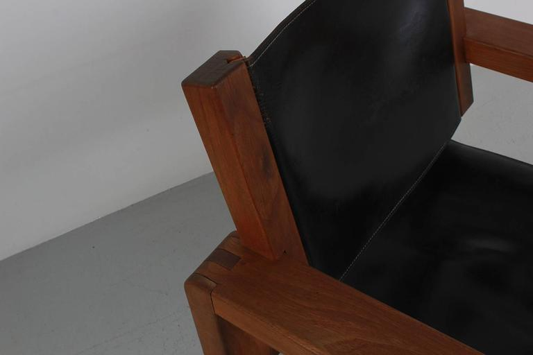 Armchair in the Style of Pierre Chapo For Sale 1