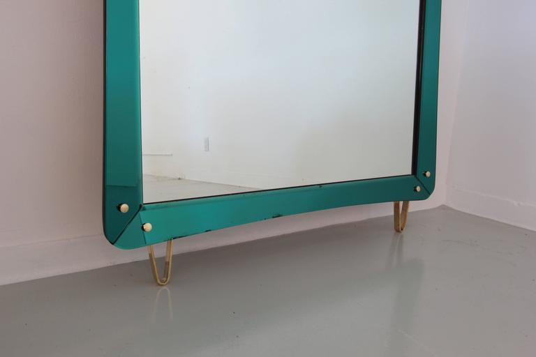 Glass Rare Cristal Art Mirror For Sale
