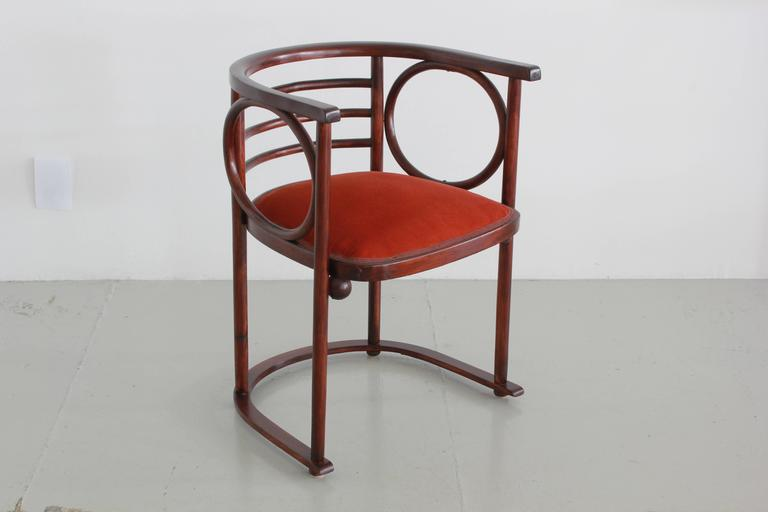International Style Josef Hoffman Pair of Fledermaus Chairs For Sale