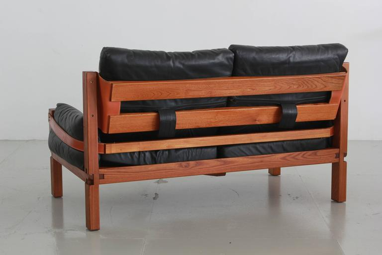 French Pierre Chapo Loveseat For Sale