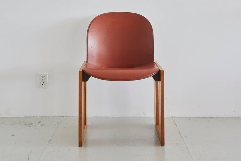 Italian Set of Four Afra & Tobia Scarpa Chairs For Sale