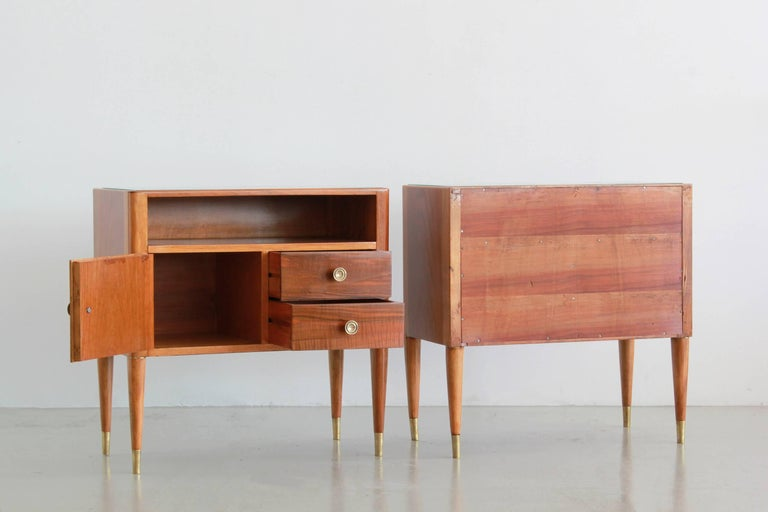 Paolo Buffa Nightstands In Excellent Condition For Sale In Los Angeles, CA