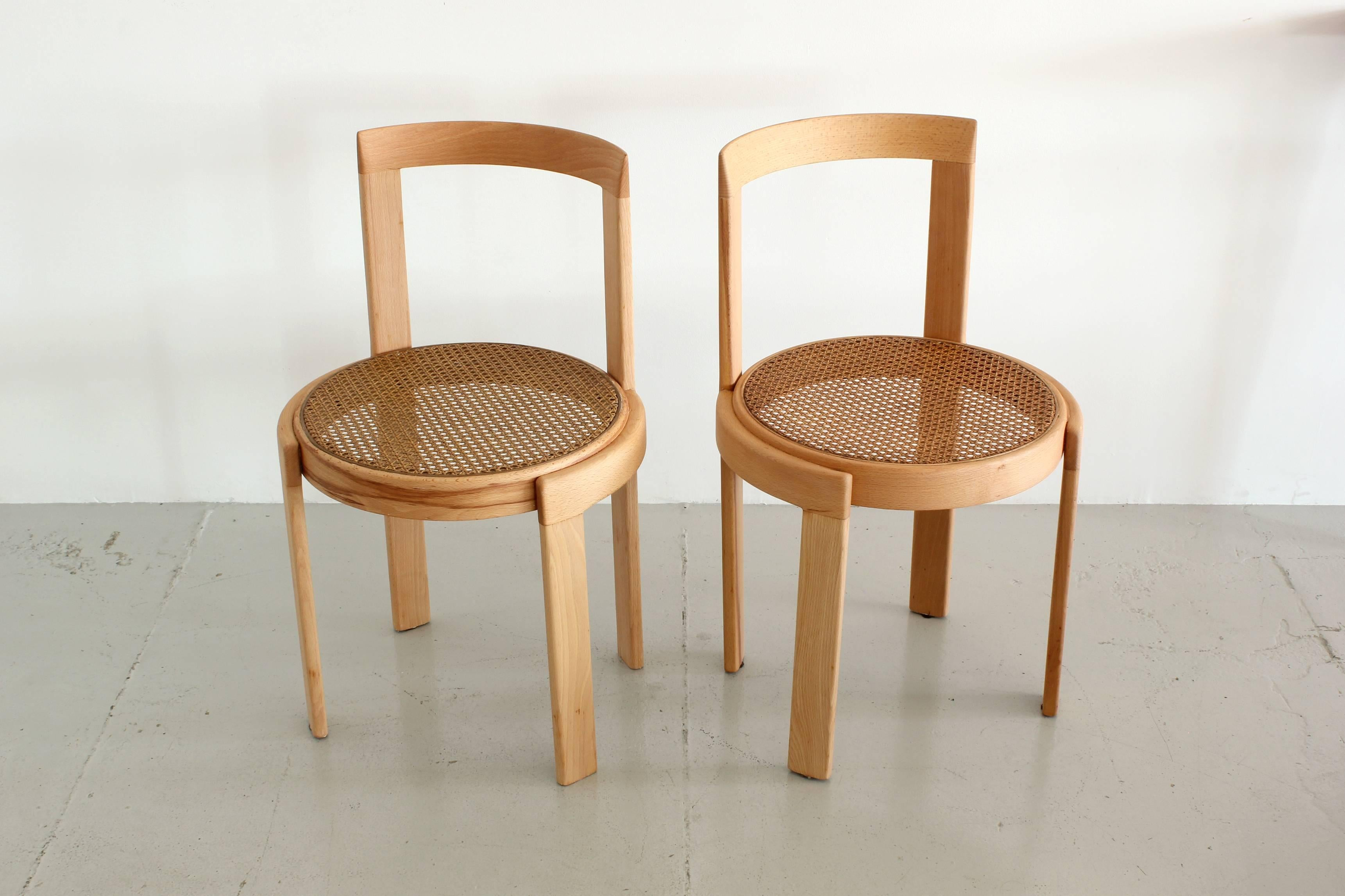 Italian Bentwood Cane Chairs In Natural Beech 2