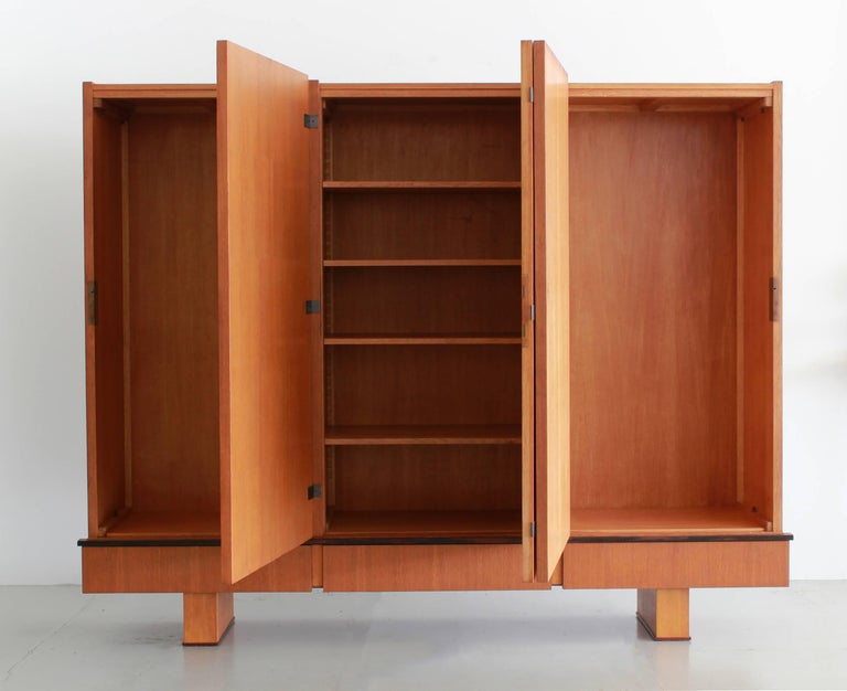 Modern French Oak Armoire by Maxime Old, circa 1950 For Sale