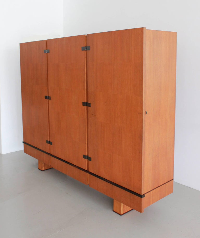 Mid-20th Century French Oak Armoire by Maxime Old, circa 1950 For Sale