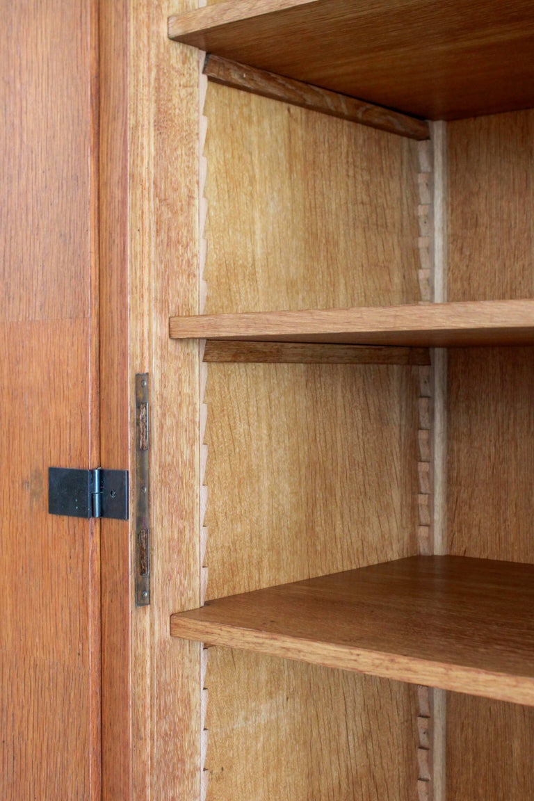 French Oak Armoire by Maxime Old, circa 1950 For Sale 1