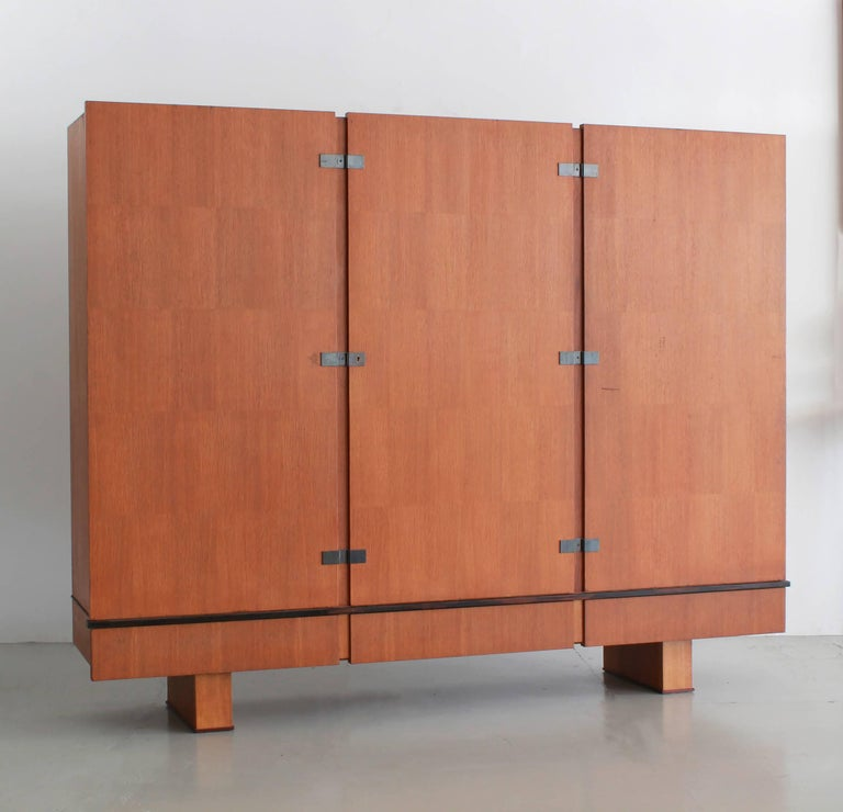 French Oak Armoire by Maxime Old, circa 1950 For Sale 2