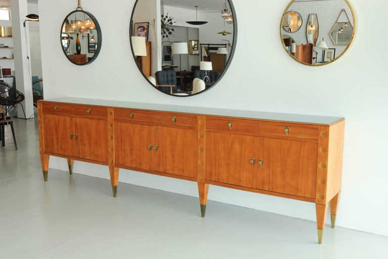 Mid-Century Modern Grand Buffet, attributed to Emilio Lancia, circa 1940's For Sale