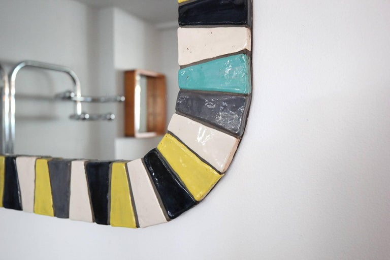 Italian Ceramic Tile Mirror 3