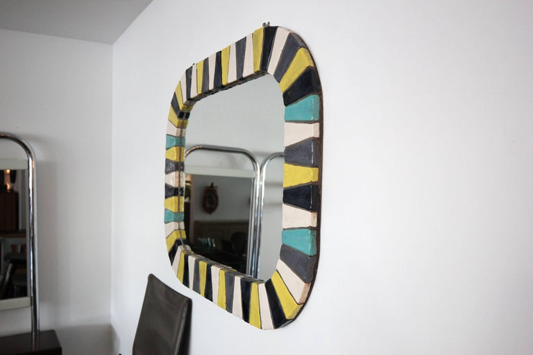 Italian Ceramic Tile Mirror 5