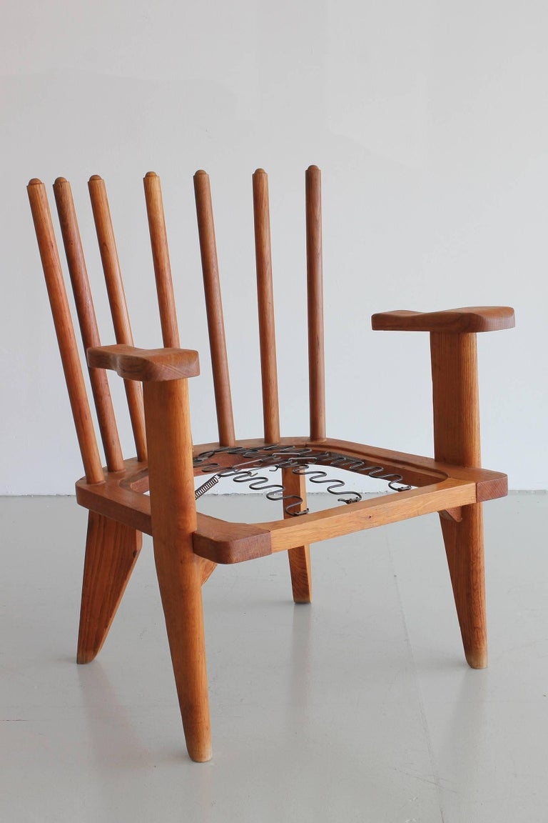 Oak Guillerme & Chambron Chairs For Sale