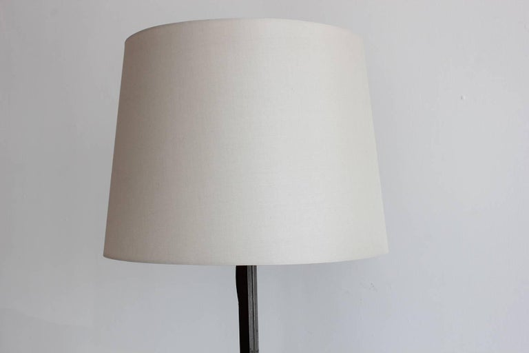Jacques Adnet Iron and Leather Floor Lamp 5