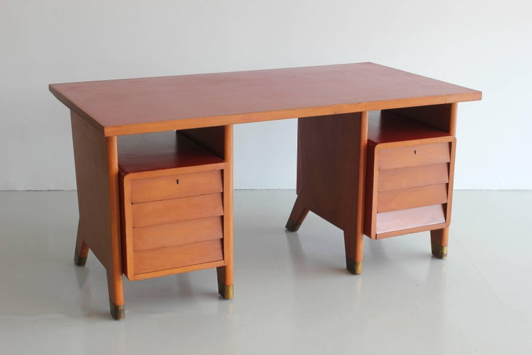 Gio Ponti Administrative Desk, Italy, 1949 In Good Condition For Sale In Los Angeles, CA