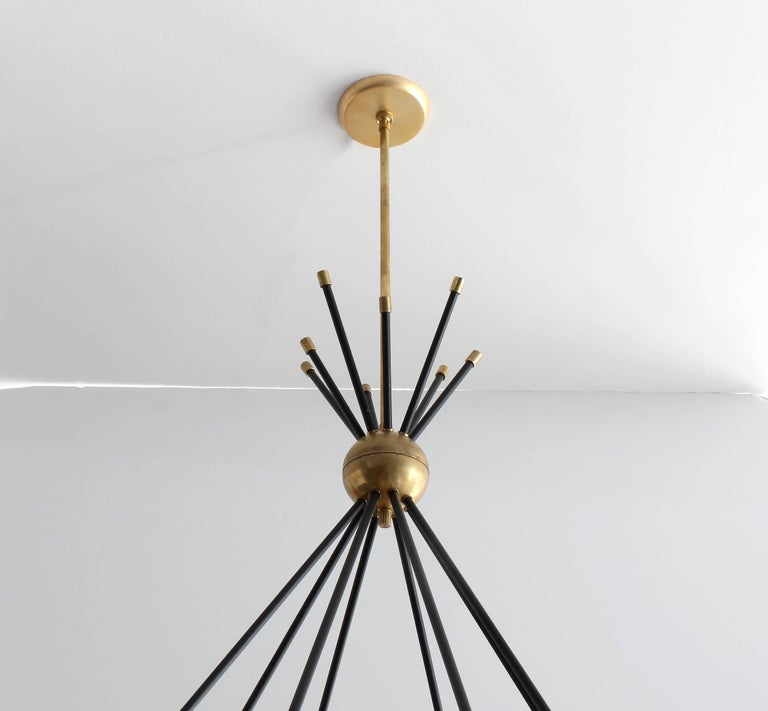 Mid-Century Modern Eight-Glass Stilnovo Globe Chandelier For Sale