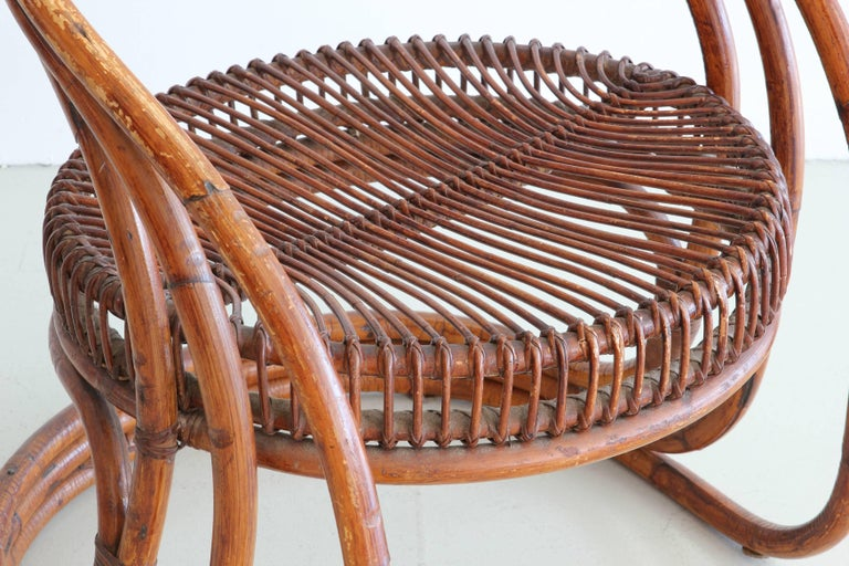Sculptural Curved Rattan Chair 7