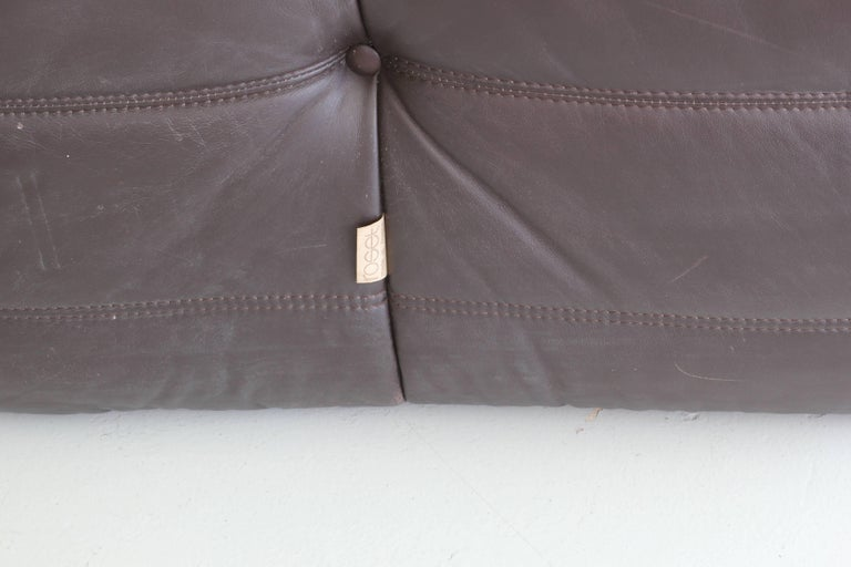 Leather Togo Chair and Ottoman by Ligne Roset For Sale