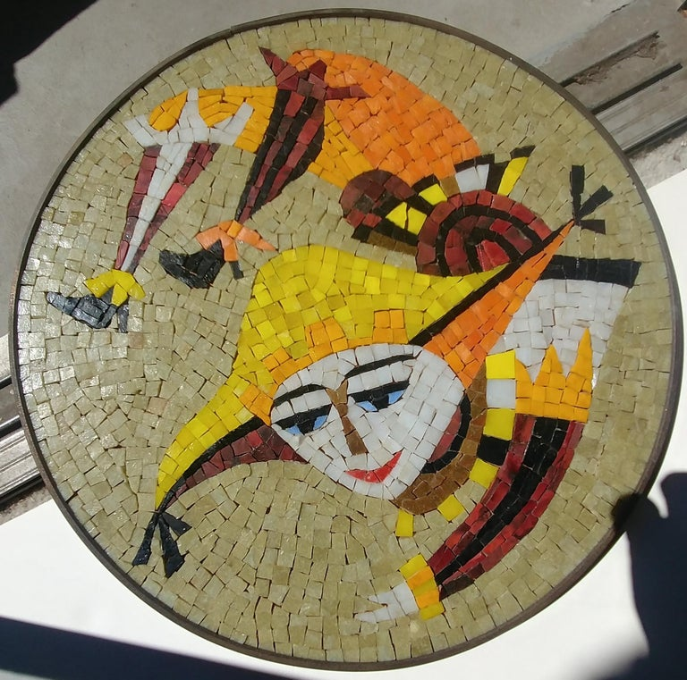 Mexican Evelyn & Jerome Ackerman Wall, Mosaic Plaque /Panel, Era Studio For Sale