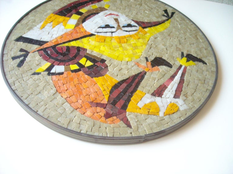 Evelyn & Jerome Ackerman Wall, Mosaic Plaque /Panel, Era Studio In Excellent Condition For Sale In Los Angeles, CA