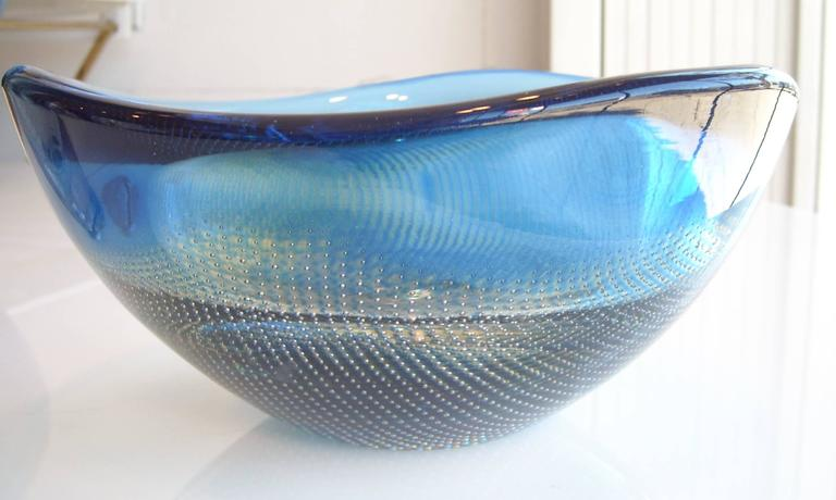 Two Orrefors Kraka 322 342 Glass Vase Bowl Sven Palmqvist Fish