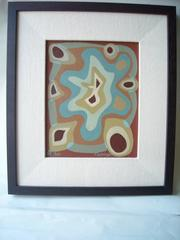 Oskar Fischinger oil painting on canvas/board,signed,dated,chop.
